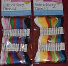 EMBROIDERY THREAD PACKS 12 OR 24 SKEIN PACKS DIFFERENT COLOURS