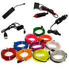 Neon LED EL Wire Glow String Strip Rope Tube Light Car Party Deco+ Controller