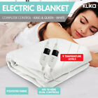 9 LEVEL HEAT SETTING ELECTRIC BLANKET HEATED FITTED in KING and QUEEN size BED