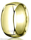10K Yellow Gold Wedding Band Ring 8mm SZ6-6.75 Heavy Comfort Fit 2mm Thick Round