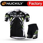 004 Nuckily Men's Mountain Bike Sports Short Sleeves Cycling Jersey+Shorts Set