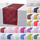 """1/5/10 PCS 12""""x108"""" Pintuck Table Runner Cloth for Wedding Party Decoration New"""