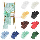 "1/5/10 PCS 6""x108"" Pintuck Taffeta Chair Sashes Bow Cover for Wedding Decor NEW"