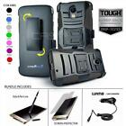 REFINED ARMOR COVER PHONE CASE & HOLSTER CLIP FOR MOTOROLA DROID TURBO 2 +BUNDLE