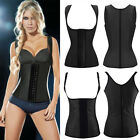 Steel Boned Latex Rubber Sport Waist Training Cincher Corset Body Shaper FK35