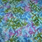 Java Batik, Dragonflies! Aqua, Blue, Purple, & Green! Cotton Fabric