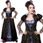 Wicked Queen Adult Ladies Halloween Gothic Witch Sorseress Fancy Dress Costume
