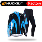 003 Nuckily Women's  Sports Cycling Jersey and Padded Tights Pants Long Set