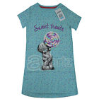New Girls ex M&S Blue Tatty Teddy Nightdress Nightie Childrens Night Dress