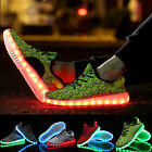 Unisex men USB Charger women LED Lights Lace Up Shoes Sportswear Casual Sneaker