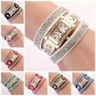 Women Vintage Fashion Crystal Bracelet Dial Quartz Dress Wrist Analog Watch