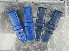 24mm Blue Deployment Strap Large Leather Long Watch Band L PAM 24