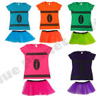 CRAYON FANCY DRESS COSTUME TOP & TUTU HEN PARTY WOMENS LADIES GIRLS NIGHT OUT