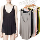 Sexy Women's Sleeveless V-neck Vest Tank Low-cut Halter Top Blouse Loose T-Shirt