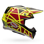 Bell Moto-9 Carbon FLEX MX Helmet - Strapped Yellow Red Motocross Offroad Trail