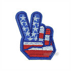 Peace for America V Sign USA Finger Embroidered Sew Iron on Patch Badge Applique
