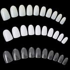 Pack 500Pc Clear White French False Acrylic Full Round Nail Art Tips UV Gel DIY