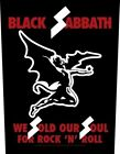 Black Sabbath We Sold Our Soul... giant sew-on backpatch  360mm x 300mm   (mm)