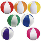6 x COLOUR INFLATABLE BLOW UP PANEL BEACH BALL HOLIDAY SWIMMING POOL PARTY TOY