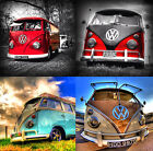 GLASS COASTERS - VW CAMPER VAN High Quality Printed Designs (Drink/Bar/Mats) T1