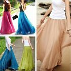 Vintage Womens Girls Chiffon Dress Dress Retro Long Maxi Boho Skirt Casual Dress