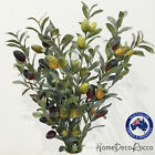 Lifelike Artificial Fake Plant Leaves Olives Decorative Fruit Floral Flowers