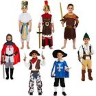 Boys Fancy Dress Up Costume Outfit Age 4-12 Knight Roman Musketeer Egyptian New