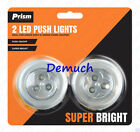 New 3 Bulb LED PUSH LIGHTS Touch On Off Light Self Stick On Click Battery Button
