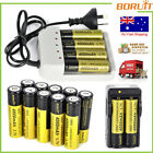 BORUIT Rechargeable 18650 Battery i 4/Dual Slot Charger For Headlamp Flashlight