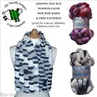 1/2 PRICE - GRUNDL POMPON COLOR POM POM YARN - FREE PATTERNS SCARVES & BLANKETS