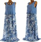 Long dress bohemian lace - ROMANA - Blue flowers - Charleselie94