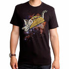 Taco Cat Adorable Cute Kitten Outer Space Stars Solar System Mens T Shirt S-2Xl
