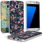 Floral Print TPU Gel Case for Samsung Galaxy S7 SM-G930 (2016) Skin Flower Cover