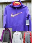 Nike Women's Therma-fit Swoosh Out All Time Training Hoodie Pull Over Fleece M L