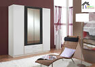 German Made Wardrobe in 3 and 4 Doors with Mirror in Walnut & White Bedroom Sale