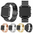 Genuine Stainless Steel Strap Watch Band +Frame For Fitbit Blaze Smart Watch