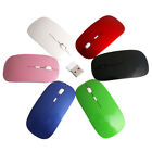 Thin USB Optical Wireless Mouse 2.4GHz Super Slim Mouse for Apple PC MacBook