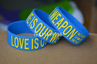 NEVER SHOUT NEVER Rubber Bracelet Wristband Sunflower Indigo Lover is Our Weapon