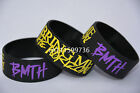 "BMTH BRING ME THE HORIZON Silicone 1"" Wide Debossed Wristband Bracelet"