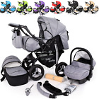 Baby Pram Stroller Pushchair Car Seat Carrycot  Travel System Buggy+ FREEBIES