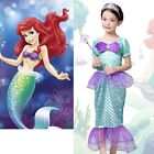 Children Girls Little Mermaid Costume Party Halloween Fancy Dress Clothes