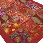"LARGE SELECTION - 20 X 40"" BURGUNDY PATCHWORK TAPESTRY WALL HANGING Boho Decor"