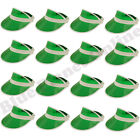 BULK BUY LOT GREEN VISOR HAT CAP PUB GOLF GOLFER FANCY DRESS STAG NIGHT