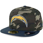 New Era Rip Right San Diego Chargers Hat (Camo/Navy) Men's 5950 Fitted Cap