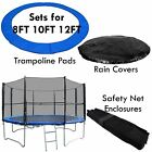 Trampoline Safety Enlosure Net and Pad Set fits 8FT 10FT 12FT 14FT