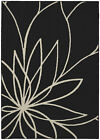 Garland Rug Grand Floral Black/cream Area Rug