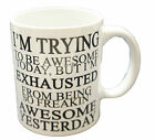 I'm Trying To Be Awesome Novelty Gift Mug Tea Coffee Office Present