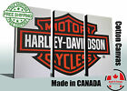 """Wall art canvas print of Harley Davidson, sizes up to 60""""x40"""", Ready to hang"""