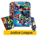 JUSTICE LEAGUE Party Tableware & Decorations (Birthday/Plates/Napkins/Banner)