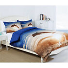 Photoreal Dolphin Sunset Beach Water Wave Ocean Queen King Quilt Cover Set